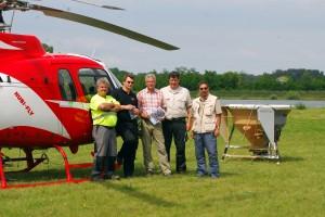 Erster Hubschraubereinsatz gegen Gelsen 2013